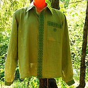 Одежда ручной работы. Ярмарка Мастеров - ручная работа Льнаная рубашка с вышивкой Успех. Handmade.