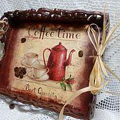 """Корзинка-поднос """"Время для кофе"""""""