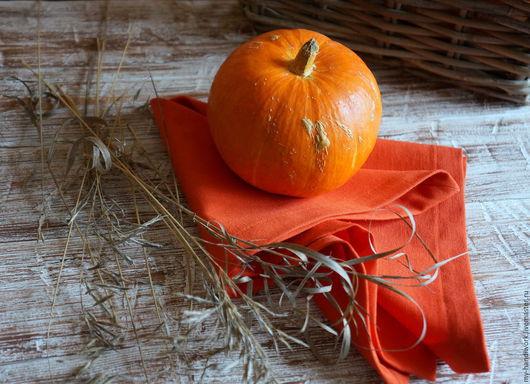 """Кухня ручной работы. Ярмарка Мастеров - ручная работа. Купить Салфетки сервировочные """"Оранжевое настроение"""". Handmade. Оранжевый, столовые приборы"""