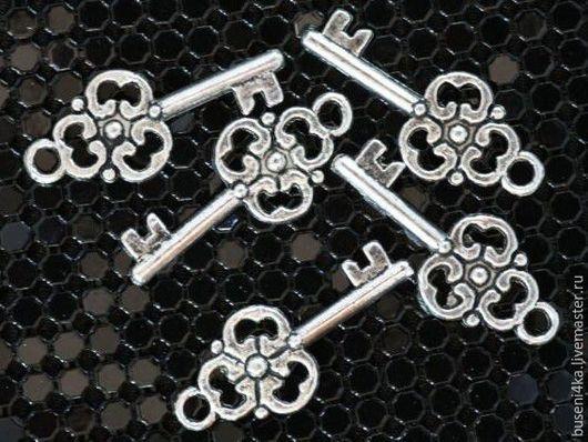 Для украшений ручной работы. Ярмарка Мастеров - ручная работа. Купить Подвеска Ключик №22 античное серебро (1шт). Handmade.