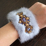 Украшения handmade. Livemaster - original item Bracelet made of mink fur, fur bracelet, bracelet made of mink. Handmade.