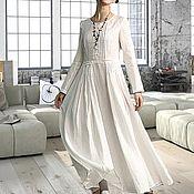 Одежда ручной работы. Ярмарка Мастеров - ручная работа Длинное  платье из льна Платье в пол Летнее платье. Handmade.