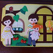 """Кукольные домики ручной работы. Ярмарка Мастеров - ручная работа Кукольный домик из фетра """"Большой дом"""". Handmade."""