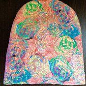 """Аксессуары ручной работы. Ярмарка Мастеров - ручная работа Валяная шапка """"Розовое настроение"""". Handmade."""