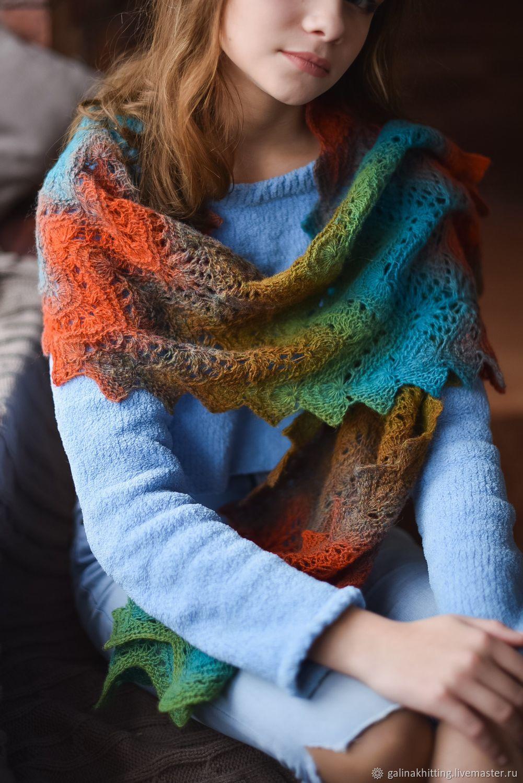 Вязание шарфов из шерсти 453