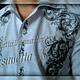 """Для мужчин, ручной работы. Ярмарка Мастеров - ручная работа. Купить Рубаха мужская с вышивкой """"Мотивы средневековья 2"""". Handmade."""