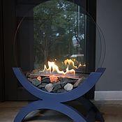 Для дома и интерьера handmade. Livemaster - original item Bio fireplace outdoor Lounge blue. Handmade.