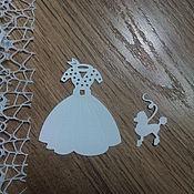 Материалы для творчества handmade. Livemaster - original item !Cutting for scrapbooking - DRESS for Princess and a DOG, diz card. Handmade.
