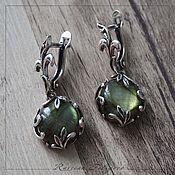 Earrings handmade. Livemaster - original item Silver earrings