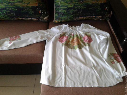 Блузки ручной работы. Ярмарка Мастеров - ручная работа. Купить Блузка под вышивку бисером.. Handmade. Комбинированный, женская одежда