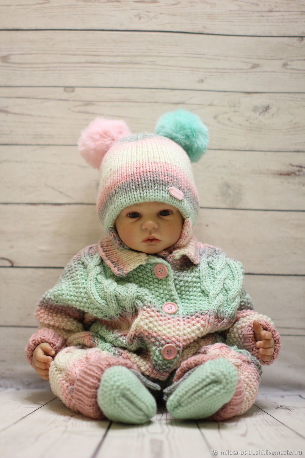 Baby knitted jumpsuit clothes newborn baby girl boy toddler, Overalls for children, Zhukovsky,  Фото №1