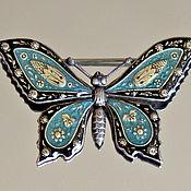Винтаж handmade. Livemaster - original item Catherine Popesco!  Brooch BUTTERFLY. Handmade.