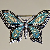 Винтаж ручной работы. Ярмарка Мастеров - ручная работа Catherine Popesco! Брошь Бабочка. Handmade.