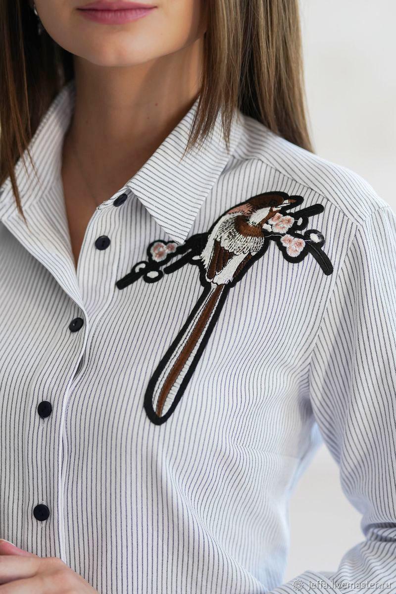 Блузка с аппликацией Форталеза арт. 1551, Блузки, Дмитров, Фото №1
