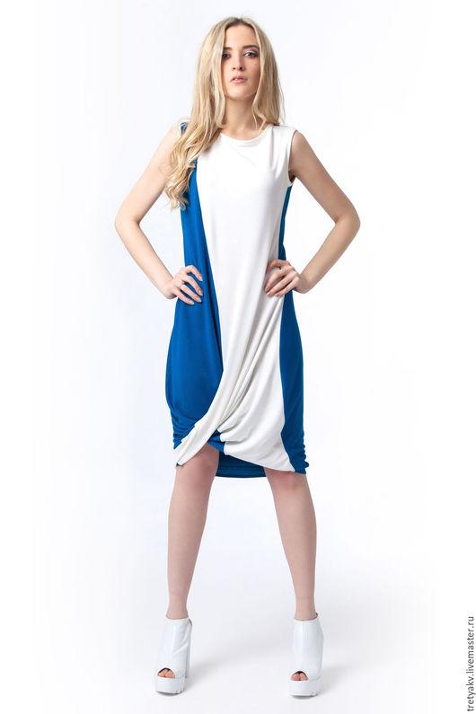 Платья ручной работы. Ярмарка Мастеров - ручная работа. Купить Платье/Платье MODAMODULE. Handmade. Синий, платье летнее, платье авторское