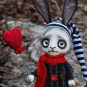 Куклы и игрушки ручной работы. Ярмарка Мастеров - ручная работа Зайка романтик. Handmade.