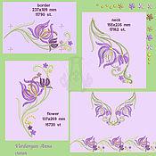 Материалы для творчества handmade. Livemaster - original item Design in machine embroidery. Flowers zawitoski.. Handmade.