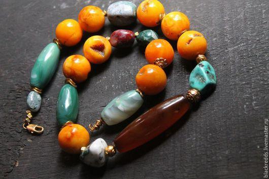 """Колье, бусы ручной работы. Ярмарка Мастеров - ручная работа. Купить Бусы""""Красавица Непала"""" натуральные камни. Handmade."""