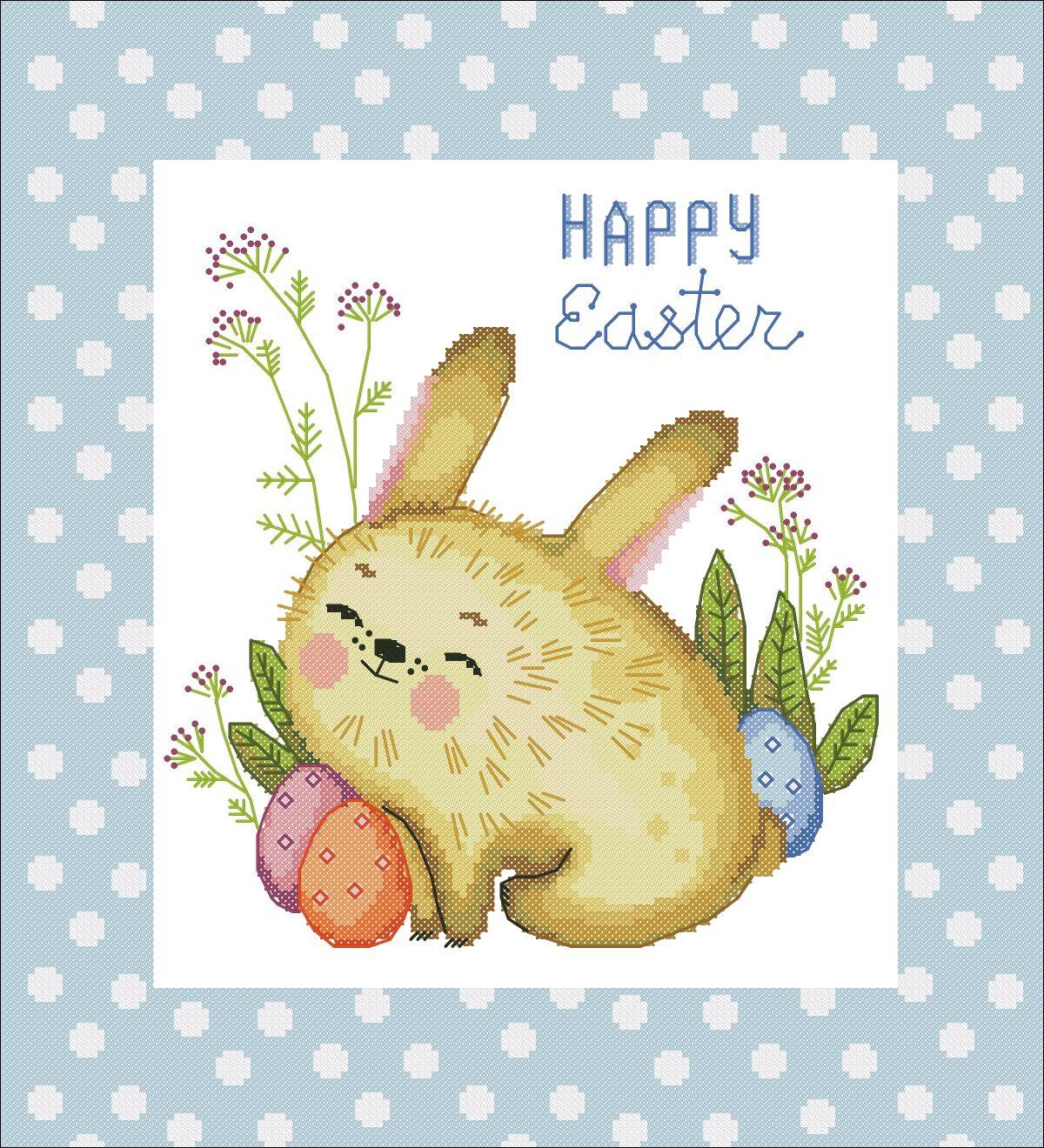 """Схема для вышивки """"Счастливой Пасхи (кролик)"""", Схемы для вышивки, Москва,  Фото №1"""