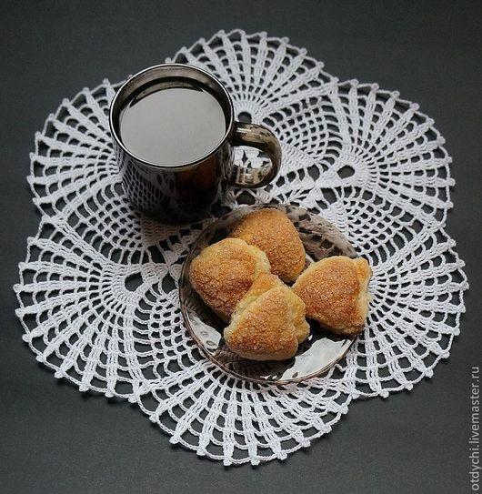 Текстиль, ковры ручной работы. Ярмарка Мастеров - ручная работа. Купить Салфетка для сервировки чая и кофе. Handmade. Белый