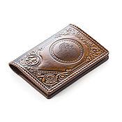 Канцелярские товары handmade. Livemaster - original item Cover wallet with engraved eagle. Handmade.