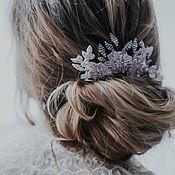 Свадебный салон handmade. Livemaster - original item Comb wedding pink, wedding decoration in the hair. Handmade.