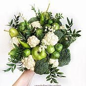 Букеты ручной работы. Ярмарка Мастеров - ручная работа Букет из фруктов, цветов и овощей «Летняя пора». Handmade.