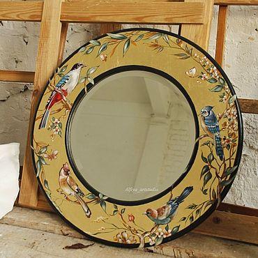 Для дома и интерьера ручной работы. Ярмарка Мастеров - ручная работа Зеркало с птицами. Handmade.