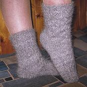 Аксессуары handmade. Livemaster - original item Women`s knitted socks `Silver serpentines`. Handmade.