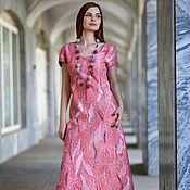 Dresses handmade. Livemaster - original item Pink dawn felted dress. Handmade.