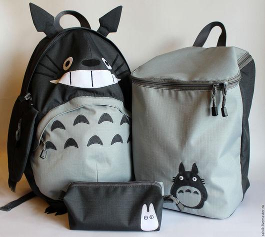 Рюкзаки ручной работы. Ярмарка Мастеров - ручная работа. Купить Тоторо-комплект: рюкзак, сумка, пенал. Handmade. Тоторо, anime