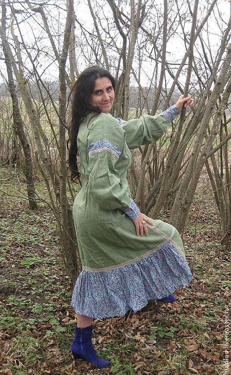Платья ручной работы. Ярмарка Мастеров - ручная работа. Купить Платье Барыня. Handmade. Платье льняное, Платье лен