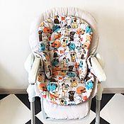 Элементы интерьера ручной работы. Ярмарка Мастеров - ручная работа Вкладыш на стульчики для кормления Chicco Polly. Handmade.