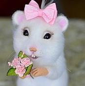 Куклы и игрушки ручной работы. Ярмарка Мастеров - ручная работа Белый хомячок.. Handmade.