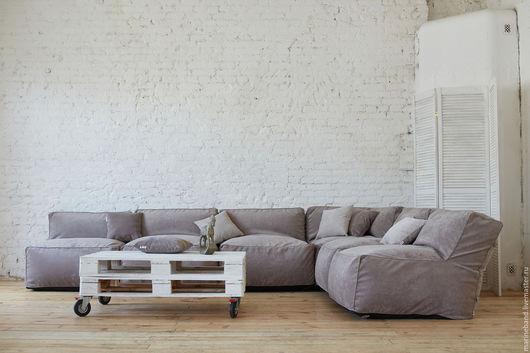 Мебель ручной работы. Ярмарка Мастеров - ручная работа. Купить Модульный диван GREY. Handmade. Серый, мягкая мебель