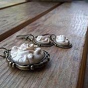 Украшения ручной работы. Ярмарка Мастеров - ручная работа комплект розы. Handmade.