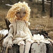 Куклы и игрушки ручной работы. Ярмарка Мастеров - ручная работа Ангелы.Текстильная коллекционная кукла ангел Онни. Бохо стиль.. Handmade.
