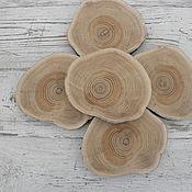 Природные материалы ручной работы. Ярмарка Мастеров - ручная работа Спил дуба без коры 11 х 13 см. Handmade.