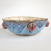 Посуда ручной работы. Ярмарка Мастеров - ручная работа Пиала «Синее море». Handmade.