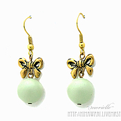 Украшения handmade. Livemaster - original item CANDY DROP earrings mint. Handmade.
