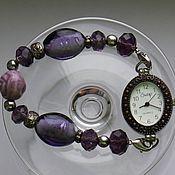 Часы винтажные ручной работы. Ярмарка Мастеров - ручная работа Часы браслет камни 9. Handmade.