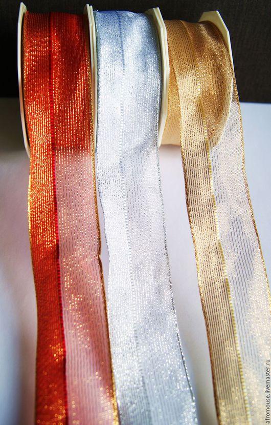 ленты `Органза с люрексом двойная` 40 мм