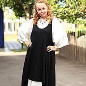 Одежда ручной работы. Ярмарка Мастеров - ручная работа Летний бохо сарафан в черном цвете. Handmade.