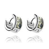 Украшения handmade. Livemaster - original item Earrings-rings khaki women`s gift