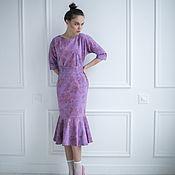 Одежда ручной работы. Ярмарка Мастеров - ручная работа платье Сиреневая роза. Handmade.