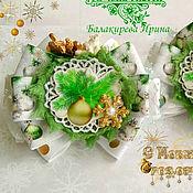"""Бантики на резинках новогодние"""" Лесная красавица"""""""