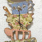 """Для дома и интерьера ручной работы. Ярмарка Мастеров - ручная работа """"Безумное чаепитие"""" часы на кухню. Handmade."""