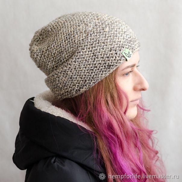 Knitted hat Bini 'Jagat' gray, Caps, Nizhny Novgorod,  Фото №1