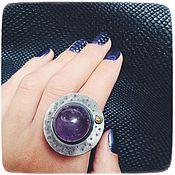 Украшения handmade. Livemaster - original item Amethyst ring Saturn. Handmade.