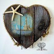 """Ключницы ручной работы. Ярмарка Мастеров - ручная работа Ключница на стену """"Сердце моря"""". Из дерева.. Handmade."""